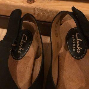 Clarks Shoes - Clark's Brand Wedges, black super comfortable!